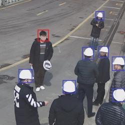 360°大视野安全帽识别